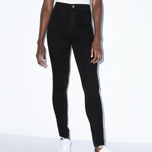 American Apparel Black high waist jeans